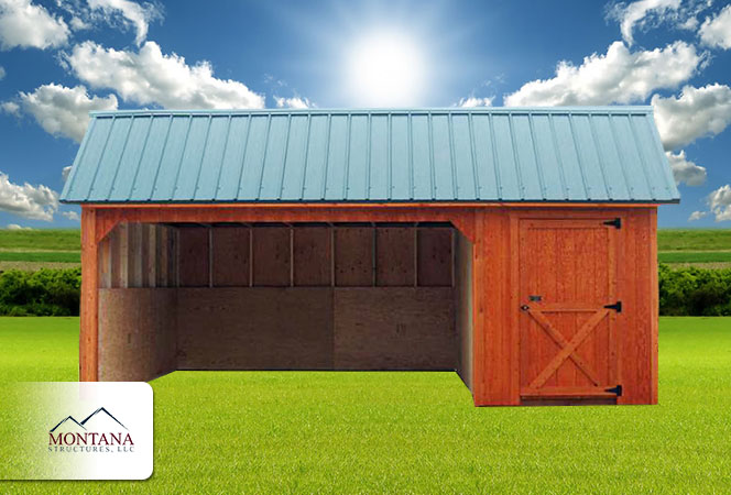 Horse Barn With Tack Room Montana Structures