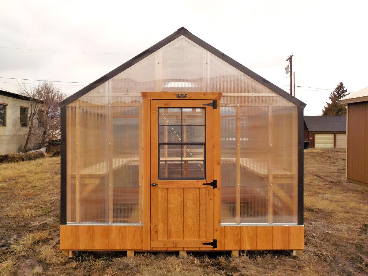 Deluxe Cedar Greenhouse Montana Structures
