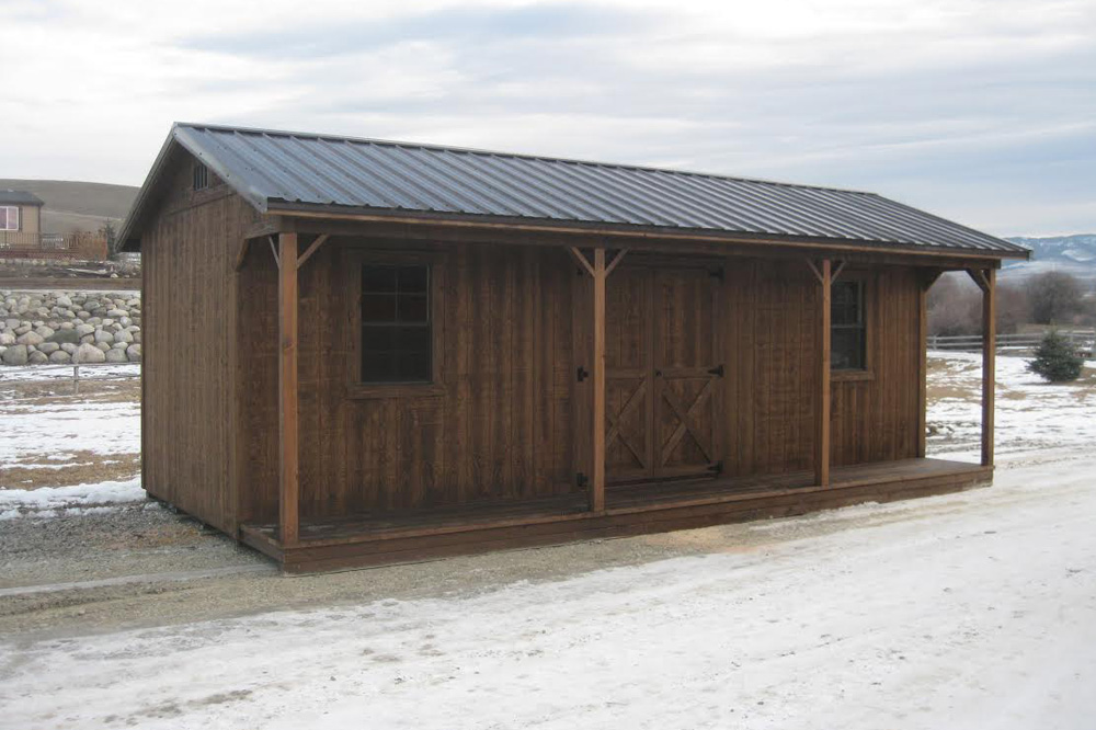 Get a Prefab Cabin with a Porch | Montana Structures