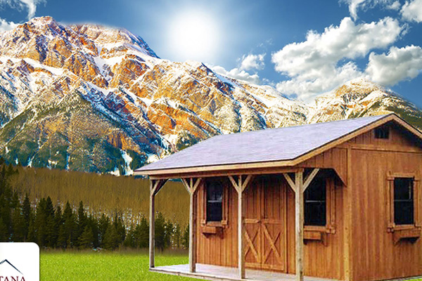 Get a Prefab Cabin with a Porch   Montana Structures