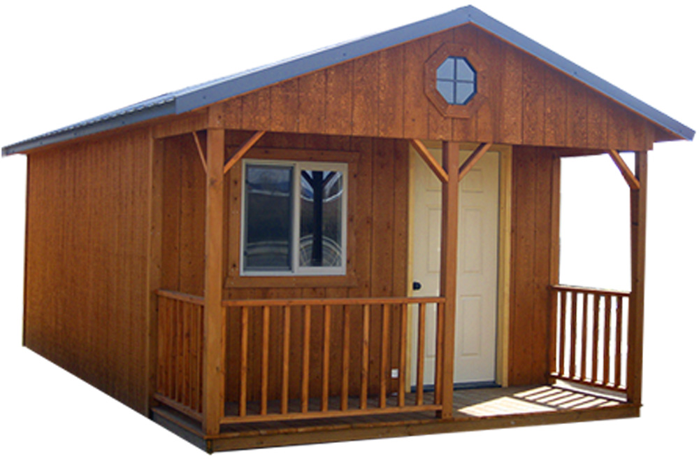 Get a Portable Cabin with Post and Beam porch | Portable Cabins in MT