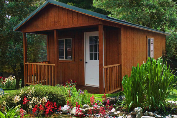 Get a Portable Cabin with Post and Beam porch | Portable